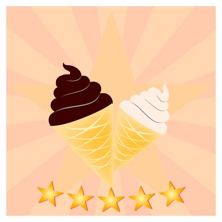 Ice Cream icon Illustration