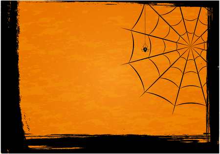 Background with spiders and web