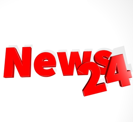 3D News word on white isolated background Standard-Bild