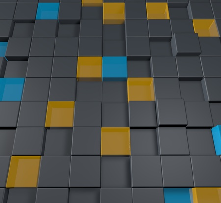 Business background with cubes