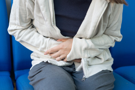 Japanese women suffering from abdominal pain