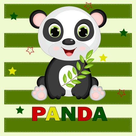 its a panda. So cute panda. Can be used for kid's clothing. Use for print, surface design, fashion wear. Adorable character for design of album, scrapbook, card and invitation