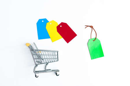 Sale Tag. Black Friday. Multicolor tags lettering