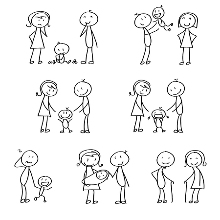 Family stick figures