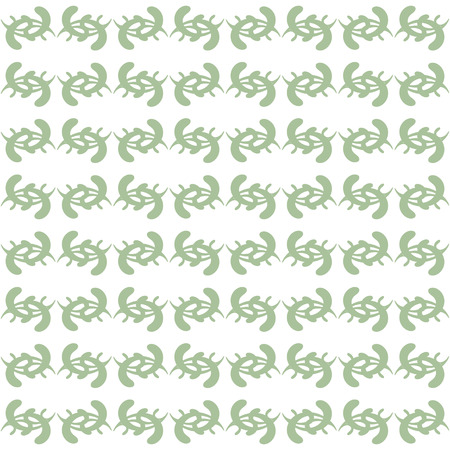 Seamless pattern on white background. Green spiky.