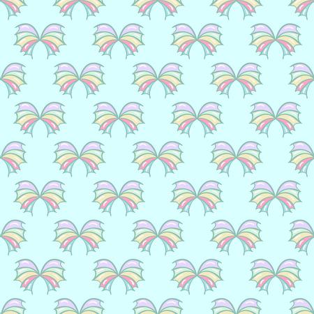 seamless pattern Ocean butterflies Çizim
