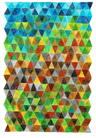 Abstract colored background of triangles. Colorful geometric Banco de Imagens