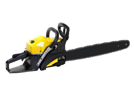 chainsaw isolated over white background photo