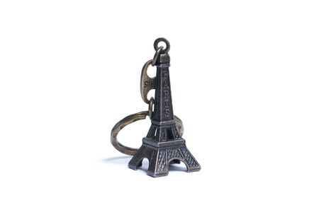 Eiffel Tower isolated over white background photo