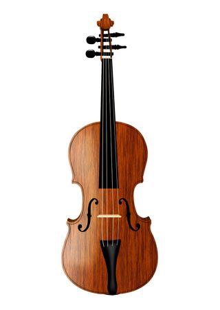 violino isolata on white  Archivio Fotografico