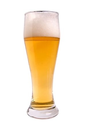 beerglass: Beer; Objects on white background Stock Photo