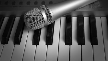 keyboard and  microphone Stock Photo - 7399524