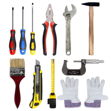 tools set isolated over white background Stock Photo - 7439767