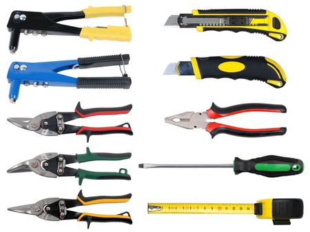 screwdriwer: tools set isolated over white background