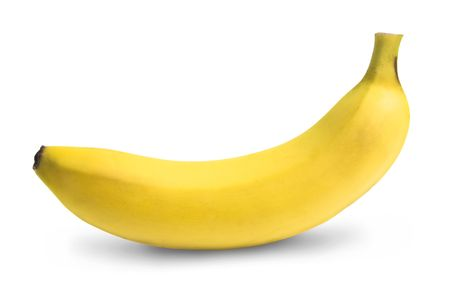 Ripe banana isolated on white background photo