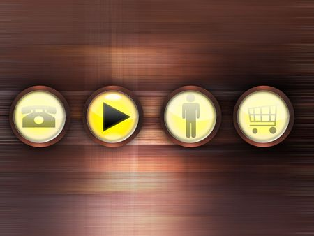 Abstract background with buttons Stock Photo - 7686875