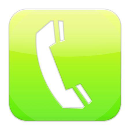Telephone, phone icon, button Stock Photo - 7760021