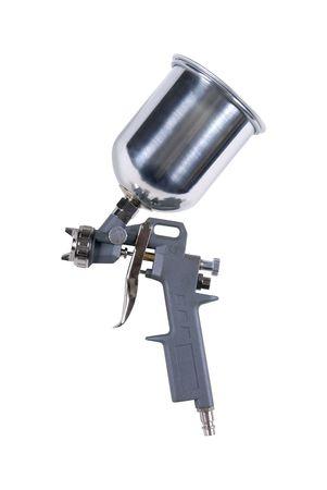 airbrushing: Pistola aislado sobre fondo blanco