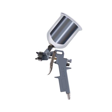 pulverizador: Pistola aislado en un backgraund blanco  Vectores