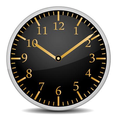 orologio a muro isolato su un bianco