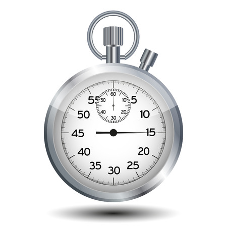 stop watch: stop watch isolated on a white background Illustration