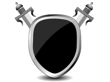 defend: security shield symbol icon illustration on white background