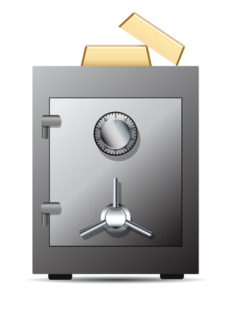 closed box: Bank safe