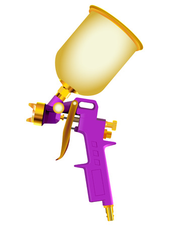 paint gun: Spray gun isolated on a white Illustration