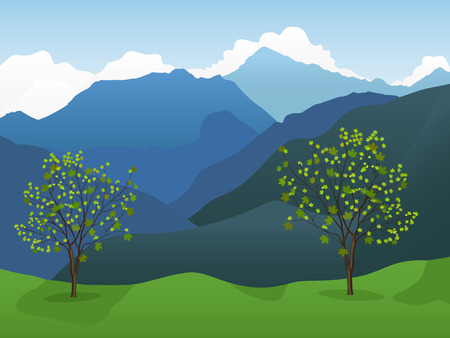 scenic background: Mountain background Illustration