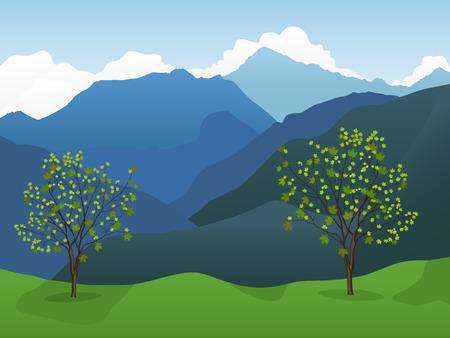 Sfondo di montagna Vettoriali