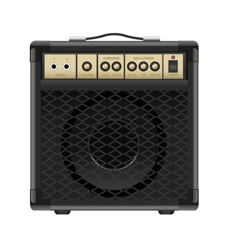amplificatore chitarra isolato su uno sfondo bianco