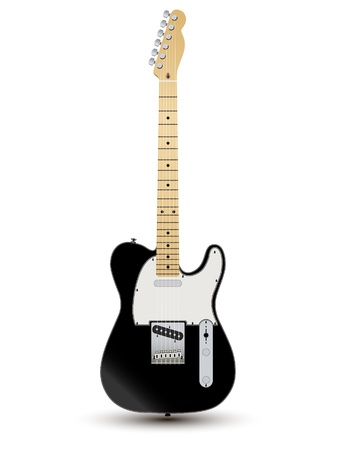 fender: electirc guitare white instrument rock music string Illustration