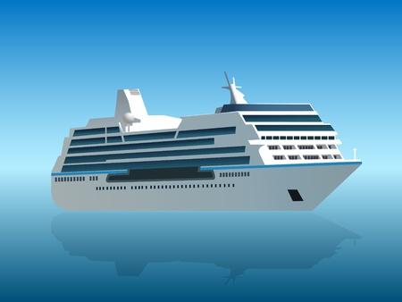 cruise ship Stock Vector - 9231796