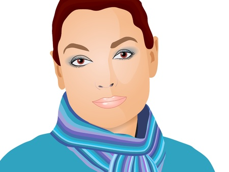 portrait of a pretty girl Vector