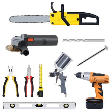 angle grinder: tools set Illustration
