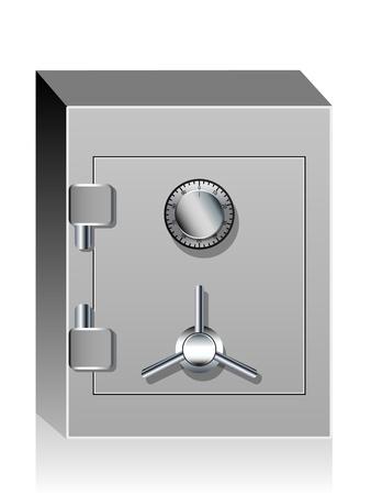 Banco seguro Ilustración de vector
