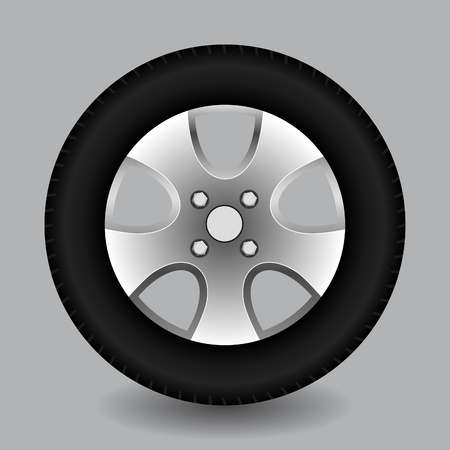 Car Wheel, vector Stock Vector - 10474642