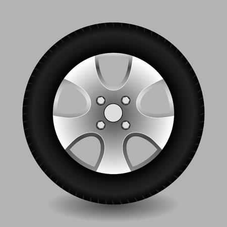 car wheel: Rueda de coche, vector