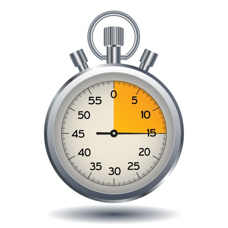 stop watch isolated on a white background Illustration