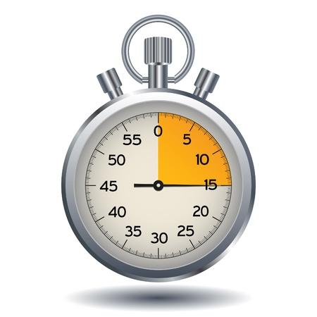 Cronometro isolato su uno sfondo bianco