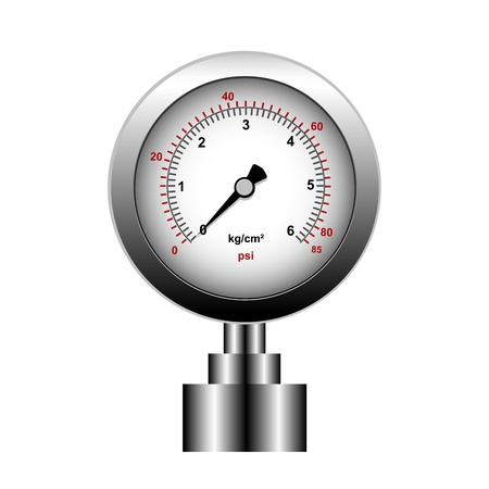 pressure gauge: manometer isolated on a white background, vector