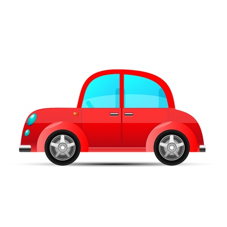 toy cars: red car, vector Illustration