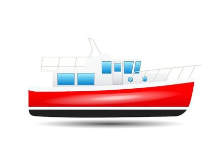speedboat: yacht on a white