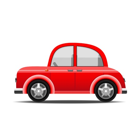 red car, vector Illustration