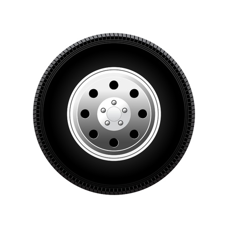 car wheel vector illustration isolated on white background Stock Vector - 10730611