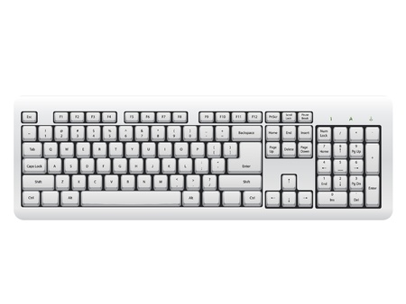 White Keyboard isolated on the white background Stock Vector - 10730612