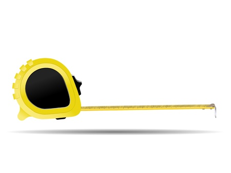 centimeters: tape measure isolated on white background Illustration