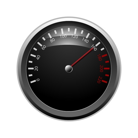 Speedometer isolated on a white background Vector
