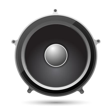 music loudspeaker: Speaker on a white