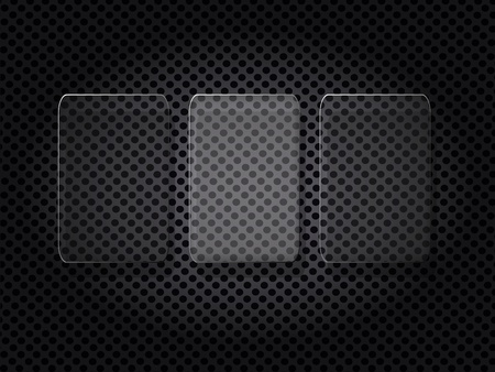 metal grid: glass on the metal grid abstract background